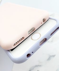 Coque iPhone macaron en silicone pour l'iphone 6 6 S 5 5S SE 8 Plus X 7 10