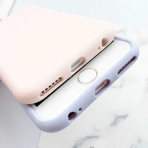 Coque iPhone macaron en silicone pour l'iphone 6 6 S 5 5S SE 8 Plus X 7 4